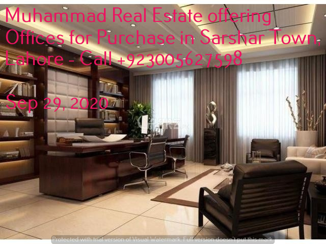 Muhammad Real Estate offering Offices for Purchase in Sarshar Town