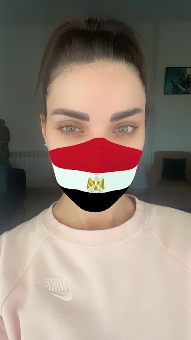 نجمات عربيات يحاربن الكورونا بأعلام مصر و المغرب و لبنان