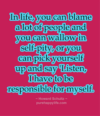 Be responsible for yourself, self-care