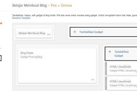 Cara Menambahkan Widget/Gadget di Blog