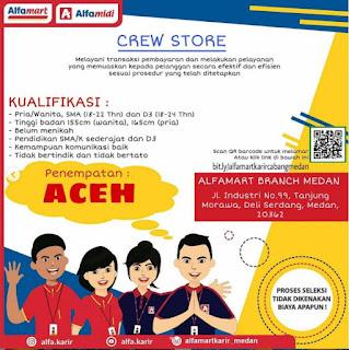 Lowongan Kerja Alfamart Cabang Medan 2021 (Penempatan Aceh)