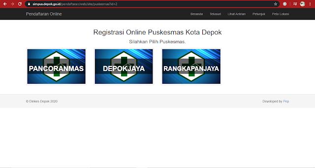 nama puskesmas daftar online puskesmas di Depok