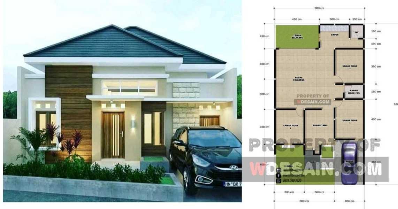 Denah Rumah Sederhana Tapi Mewah 3 Kamar Tidur Desain Rumah Minimalis