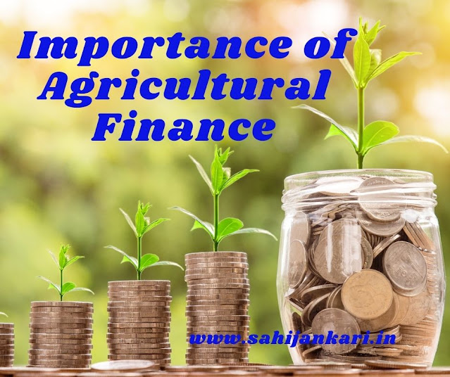 Importance of Agricultural Finance