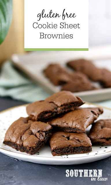 Gluten Free Cookie Sheet Brownie Recipe - gluten free, best ever brownie recipe, wheat free, healthier dessert recipes, kid friendly, baking with kids