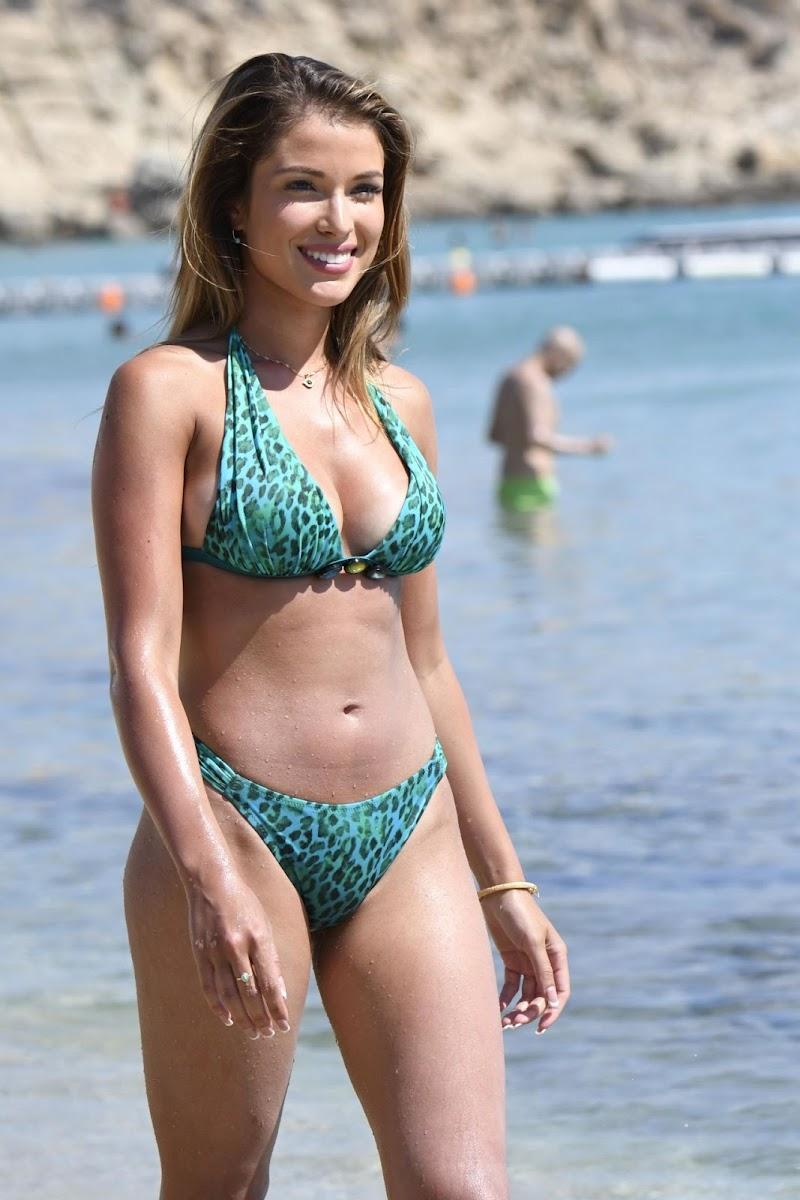 Catarina Sikiniotis in Bikini at Platis Gialos Beach in Mykonos  23 Aug -2017