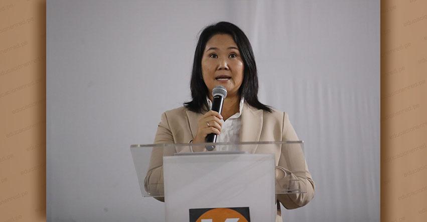 KEIKO FUJIMORI: Voy a reconocer los resultados de la segunda vuelta que proclame el Jurado Nacional de Elecciones [VIDEO]