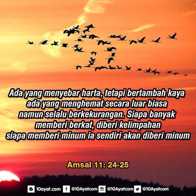 Amsal 11: 24-25