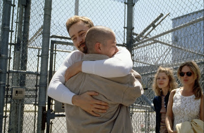 Edward Norton as Derek Vinyard, Edward Furlon as Danny Vinyard in American History X, brothers reunion, Danny released from jail, Directed by Tony Kaye
