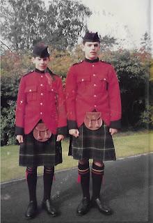 My boys at school, dress tartan.