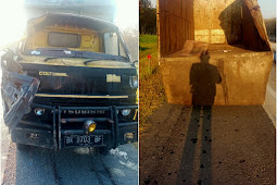 Bus Rajawali Seruduk Truk Colt Disel di Tol, Supir Luka Berat
