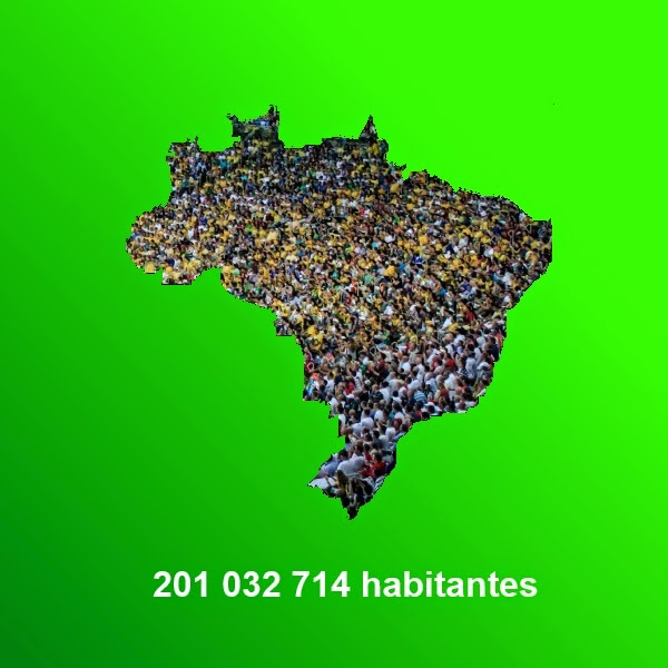 Approximately Brazilian population in 2013