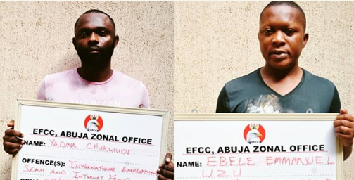 Two Abuja Big Boys Nabbed For Yahoo Fraud