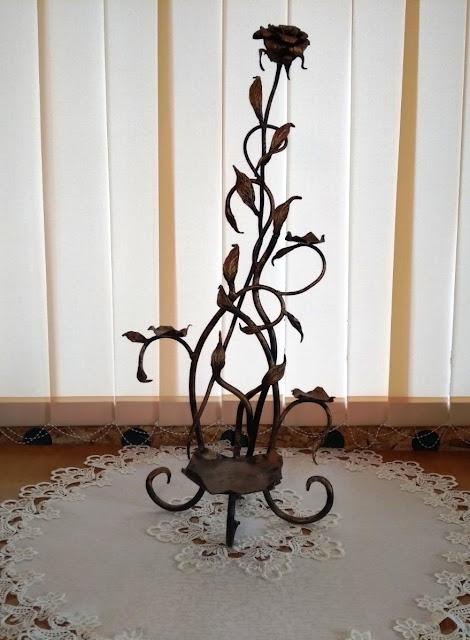 Підсвічник троянда на 4 свічки