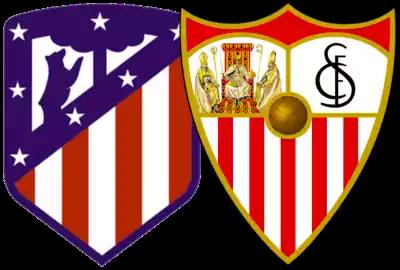 escudos sevilla y atlético de madrid
