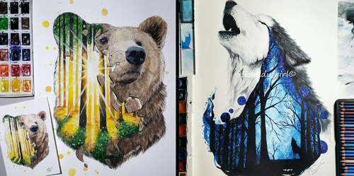 00-Jonna-Lamminaho-Mixed-Media-Animal-Paintings-www-designstack-co