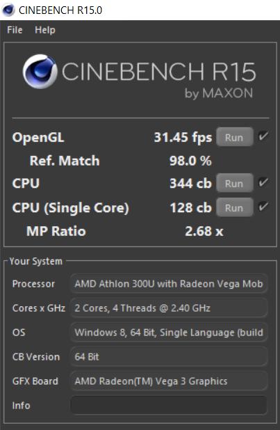 AMD Athlon PRO 300U SoC - NotebookCheck.net Tech