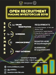 OPEN RECRUITMENT STAFF MAGANG INVESTOR CLUB FEB UNS 2019