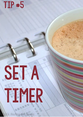 TpTer and blogger tip: Set a timer to keep yourself focused. Work intently until the timer sounds and then you can scroll through your Instagram feed!