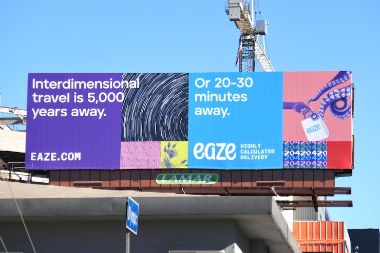 Interdimensional travel Eaze billboard