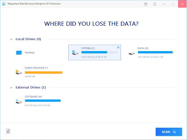 Screenshot Magoshare Data Recovery Enterprise 3.9 Full Version
