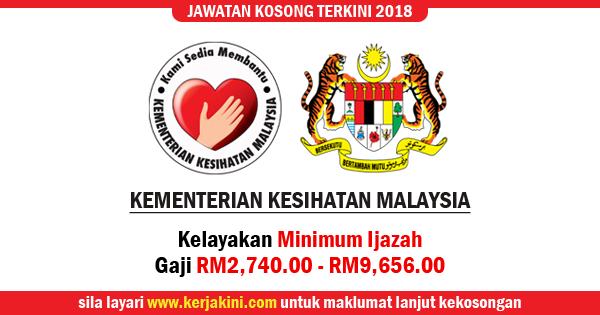 jawatan kosong 2018 kementerian kesihatan malaysia