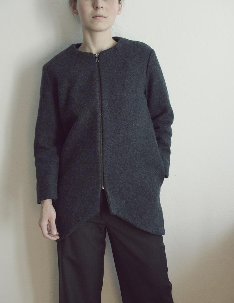 jesienny płaszcz własnego projektu