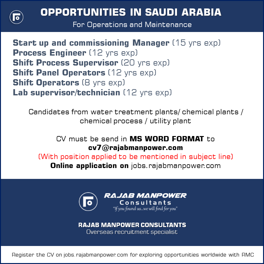 Opportunities in Saudi Arabia for Operations and Maintenance