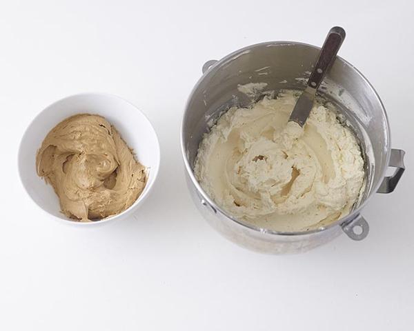Bake your favorite 6″ round cake recipe.