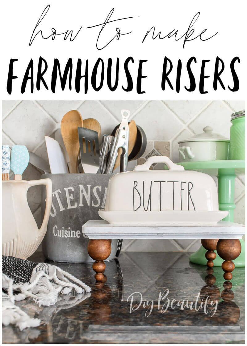 kitchen decor with farmhouse riser