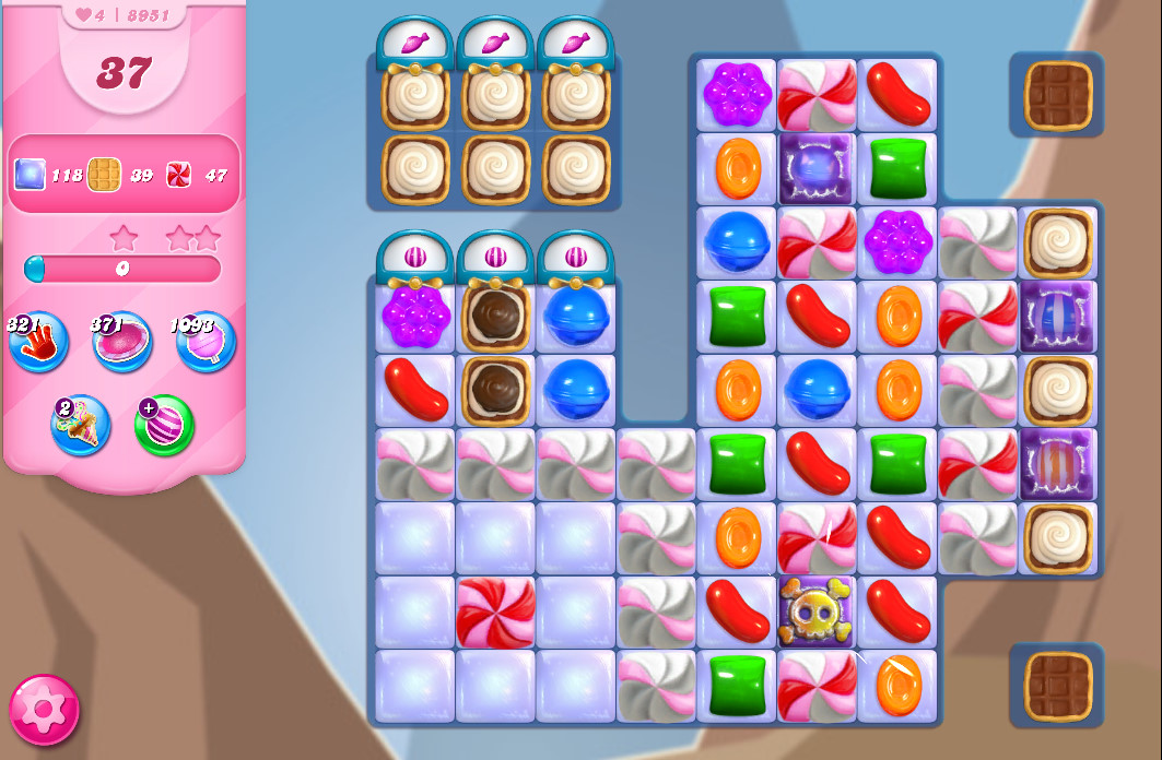 Candy Crush Saga level 8951