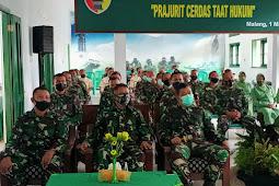 Staf Hukum Divif 2 Kostrad Ikuti Syukuran HUT Korps Hukum TNI AD ke-69 di Kumdam V/Brawijaya