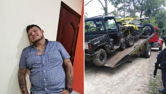 """Lider Huachicolero """"El Kalimba"""" escapa de operativo, le aseguran rancho y vehículos todo terreno"""