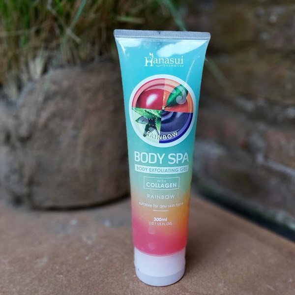 Review Hanasui Rainbow Body Spa Exfoliating with Collagen