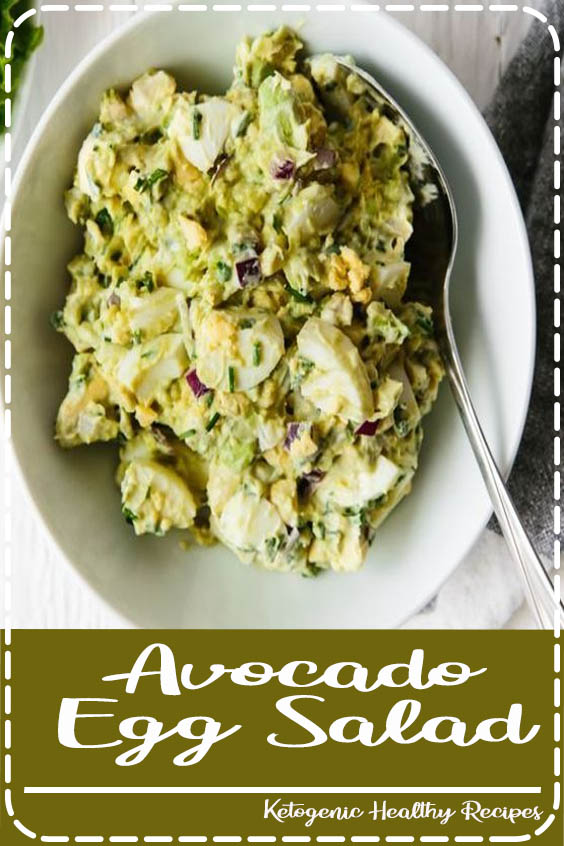Avocado egg salad is a delicious spin on the traditional egg salad recipe and perfect for Avocado Egg Salad