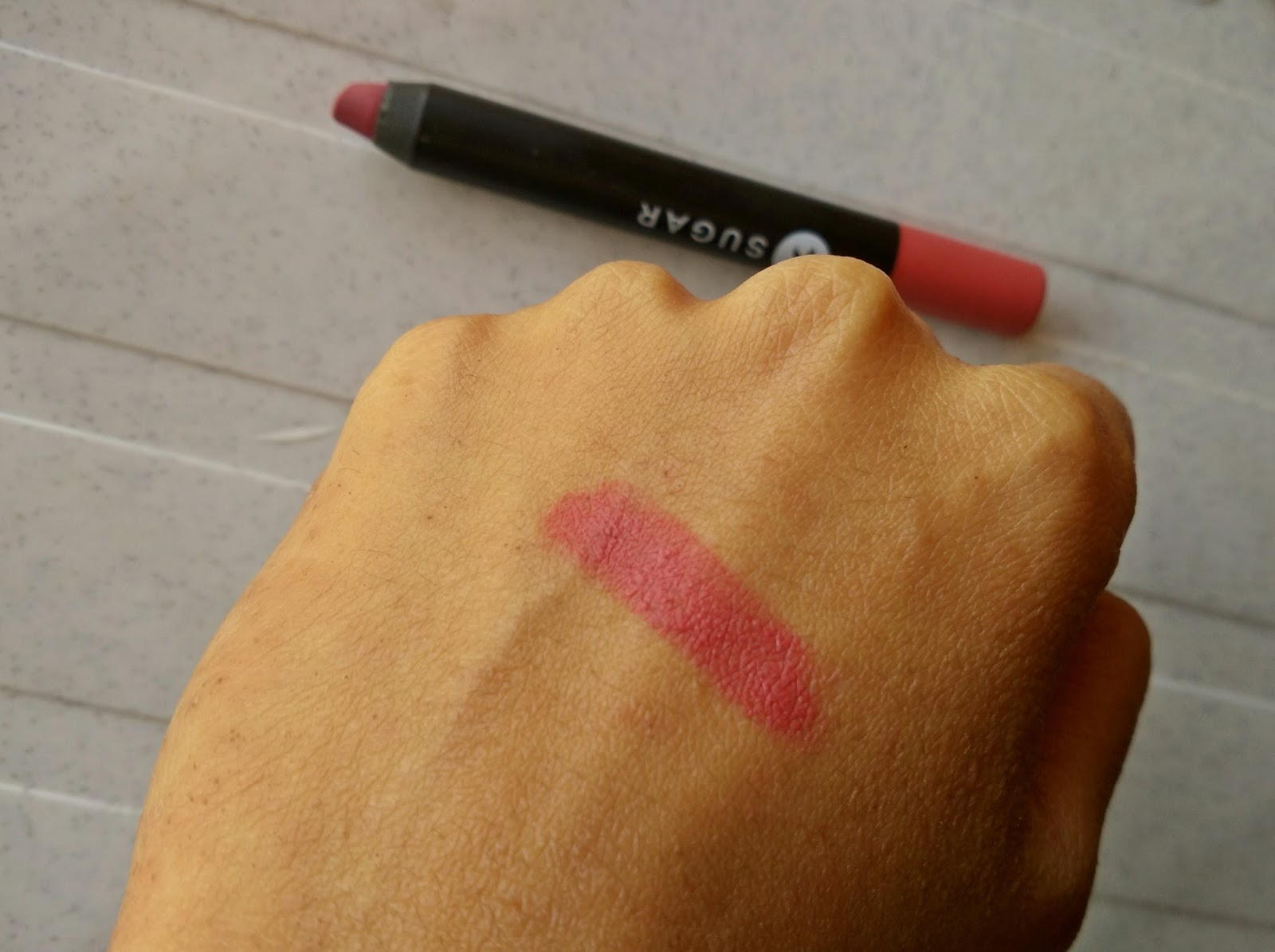 Sugar Matte As Hell Lip Crayon Holly Golightly Review, Swatch, FOTD