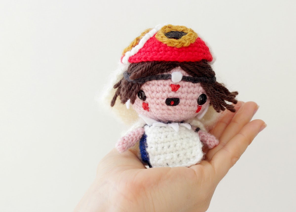Amigurumi princess mononoke free pattern by The Sun and the Turtle