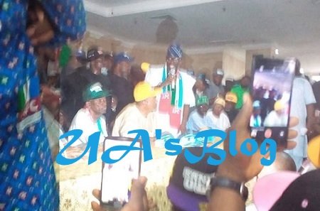 PHOTOS: City Hall Agog As Sanwo-Olu Officially Declares For Lagos Governorship In Grandstyle