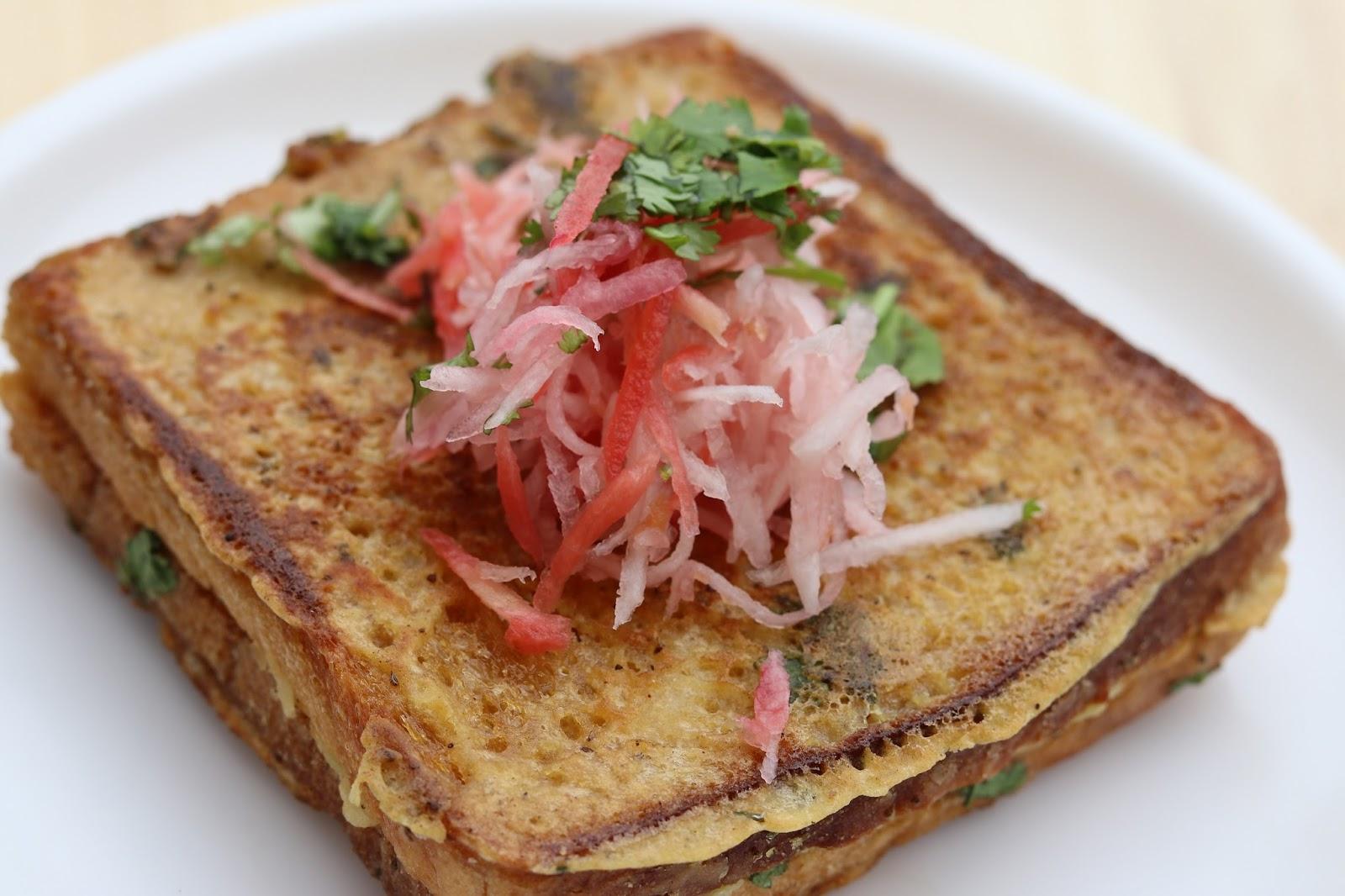 Bread Cake Recipe In Kadai: Healthy Stuffed Bread Pakora