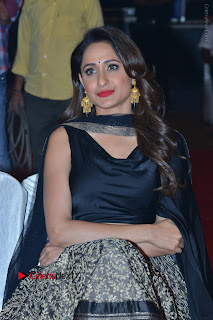 Actress Pragya Jaiswal Stills in Black Dress at Om Namo Venkatesaya Audio Launch Event  0007.JPG