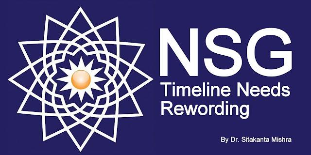 NSG Timeline Needs Rewording