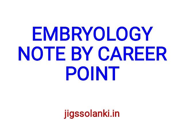 EMBRYOLOGY NOTE BY CAREER POINT