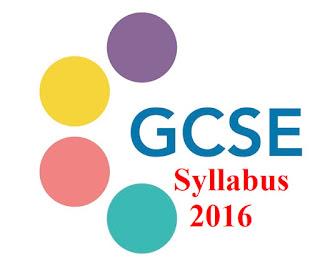 GCSE 2016 Syllabus