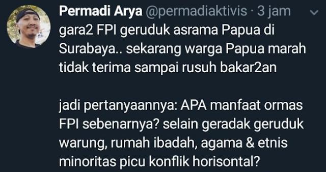 Abu janda tuding FPI