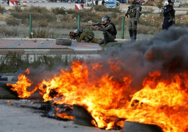 Sporadic clashes broke out between Palestinians and Israeli forces on Thursday — AFP