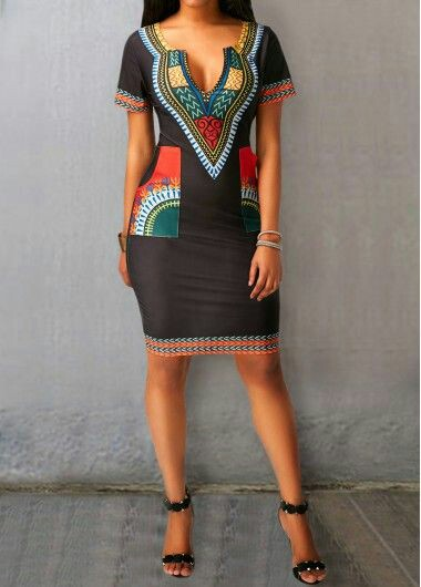 African short Sleeve dress