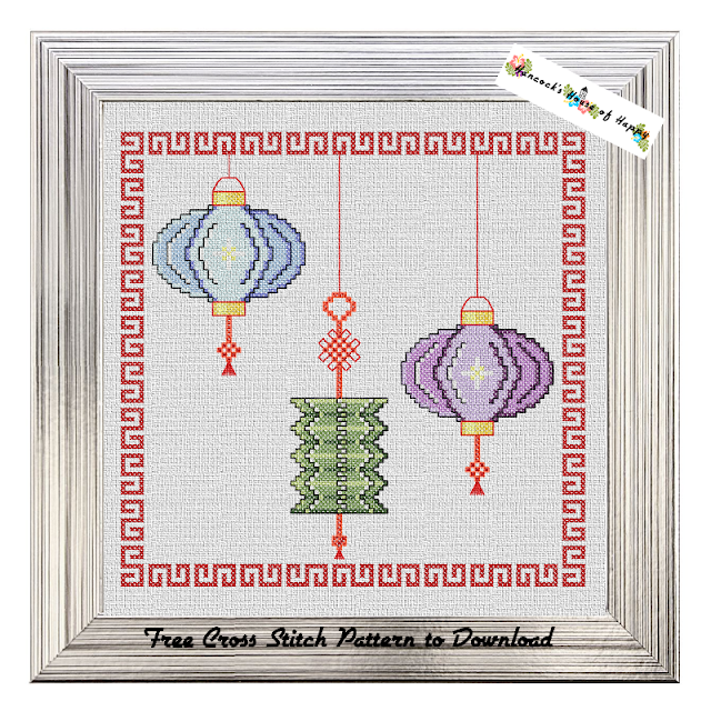 Charming Chinese Lanterns Cross Stitch Pattern Free to Download