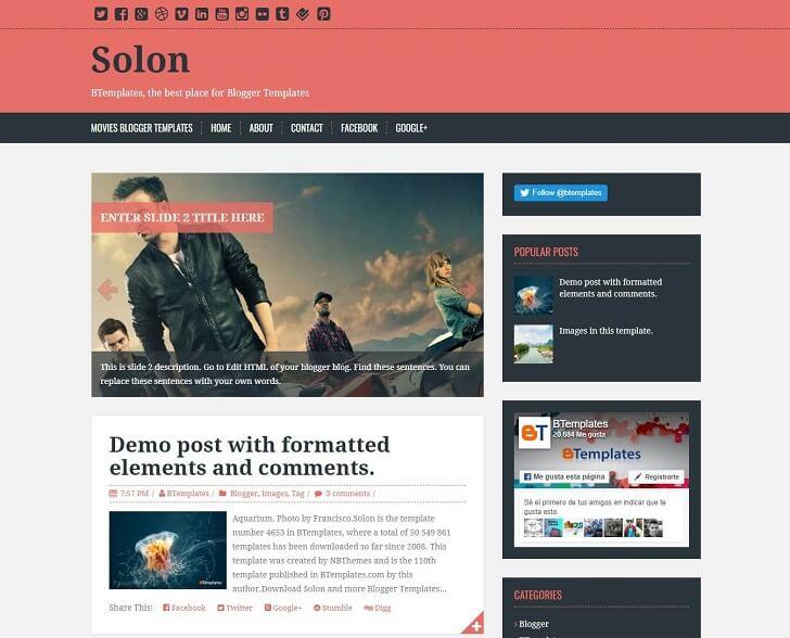 Тема Solon за Blogger