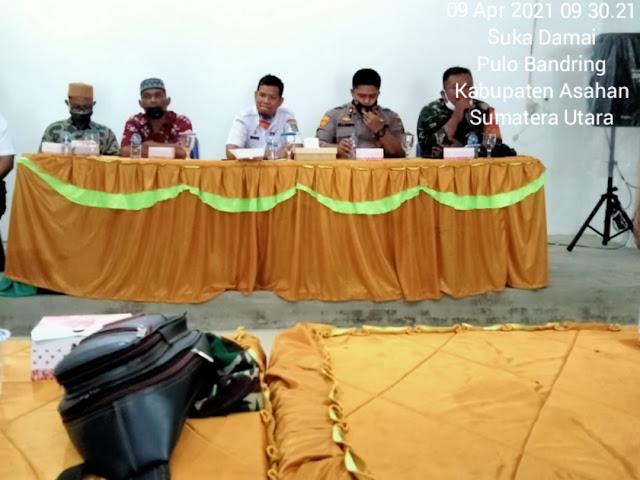 Dalam Rangka Menyambut Bulan Suci Ramadhan, Personel Jajaran Kodim 0208/Asahan Rapat Dikantor Camat