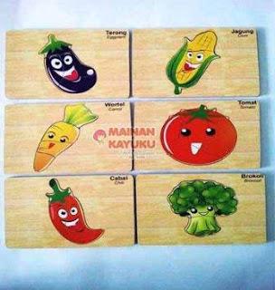 Puzzle Anak PAUD TK Seri Sayur